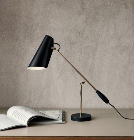 Bilde av Birdy bordlampe Svart/Messing