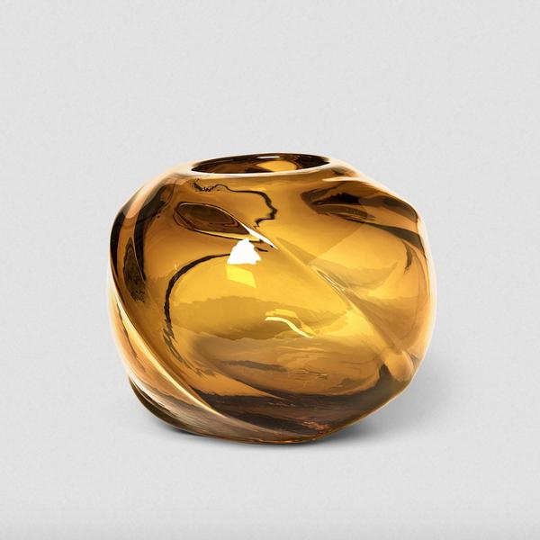 Water Swirl Vase, Round